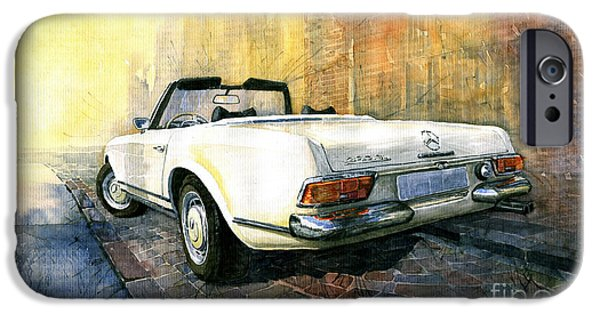 Pagoda iPhone Cases - Mercedes Benz W113 280 SL Pagoda iPhone Case by Yuriy  Shevchuk
