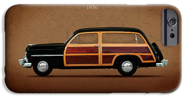 Station Wagon iPhone Cases - Mercury Station Wagon 1950 iPhone Case by Mark Rogan