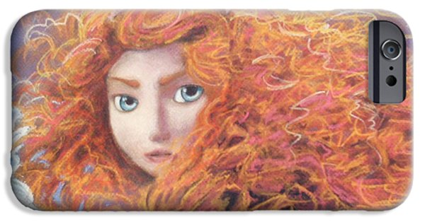 Orange Pastels iPhone Cases - Merida from Pixars Brave iPhone Case by Andrew Fling