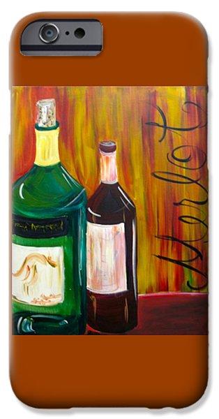 Wine Bottles iPhone Cases - Merlot iPhone Case by Carolann Shubert