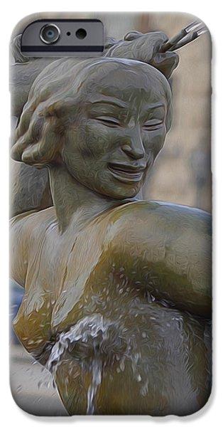 River Sculptures iPhone Cases - Mermaid iPhone Case by Albert Stewart