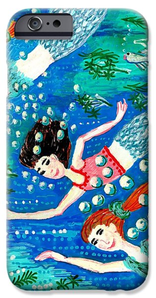 Mermaid race iPhone Case by Sushila Burgess