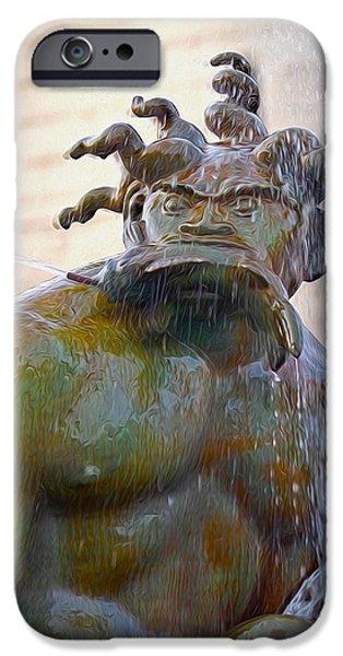 River Sculptures iPhone Cases - Merman iPhone Case by Albert Stewart