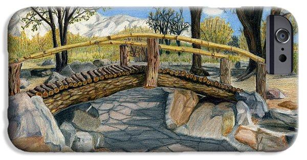 Historic Site Mixed Media iPhone Cases - Merritt Park Bridge iPhone Case by Joy Lavery