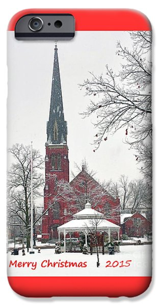 Christmas Greeting iPhone Cases - Merry Christmas 2015 iPhone Case by Marcel  J Goetz  Sr