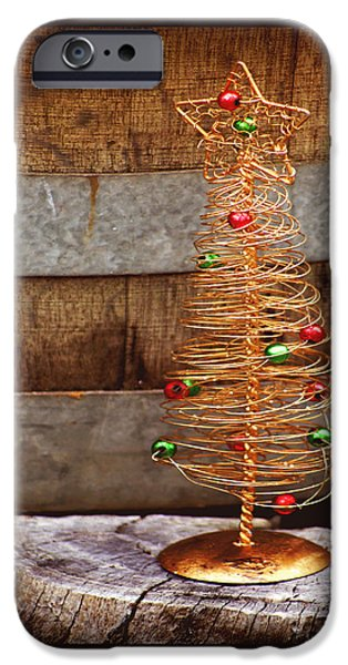 Baubles iPhone Cases - Merry Christmas iPhone Case by Holly Kempe