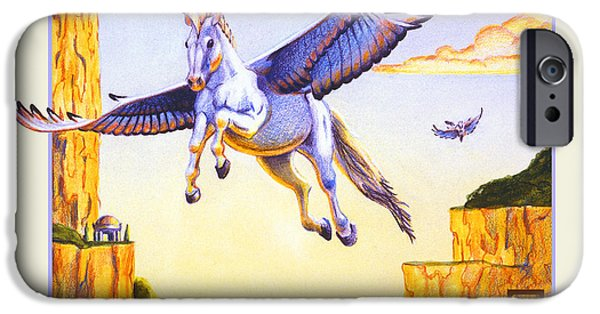 Collectible Mixed Media iPhone Cases - Mesa Pegasus iPhone Case by Melissa A Benson