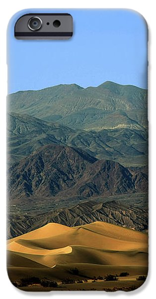 Mesquite Flat Sand Dunes - Death Valley National Park CA USA iPhone Case by Christine Till