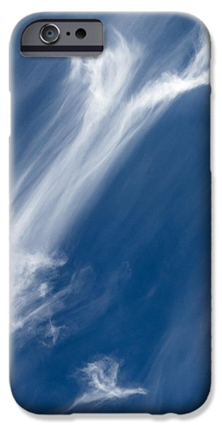 Blue Abstracts iPhone Cases - Messages iPhone Case by Mario Morales Rubi