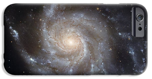 Constellations iPhone Cases - Messier 101, The Pinwheel Galaxy iPhone Case by Stocktrek Images