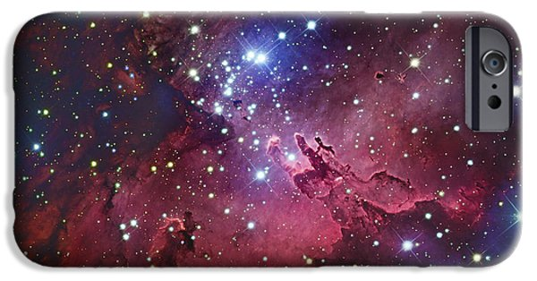 Stellar iPhone Cases - Messier 16, The Eagle Nebula In Serpens iPhone Case by Robert Gendler