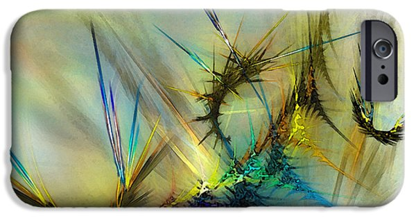 Contemporary Abstract iPhone Cases - Metamorphosis iPhone Case by Karin Kuhlmann
