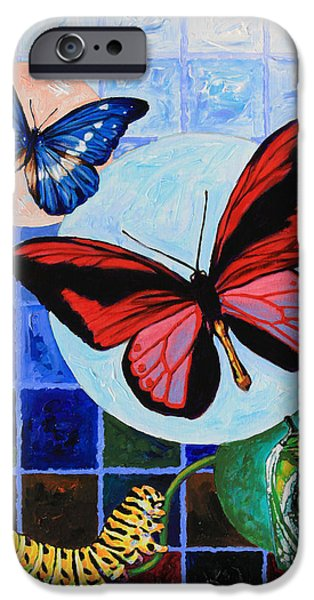 Metamorphosis of the New Life iPhone Case by John Lautermilch