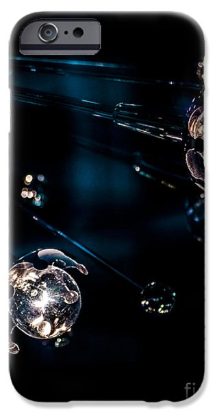 Abstractions iPhone Cases - Meteor Shower iPhone Case by James Aiken