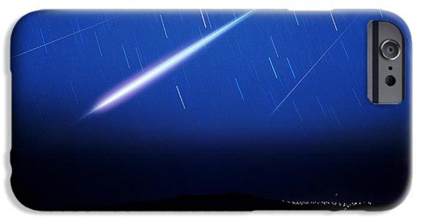 Fireball iPhone Cases - Meteor Tracks iPhone Case by Detlev Van Ravenswaay