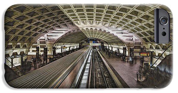 D.c. iPhone Cases - Metro Station iPhone Case by Maria Coulson