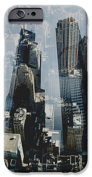 Structural iPhone Cases - Metropolis III  iPhone Case by David Studwell