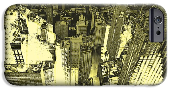 Structural iPhone Cases - Metropolis IV iPhone Case by David Studwell