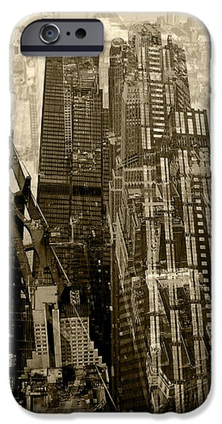 Structural iPhone Cases - Metropolis V iPhone Case by David Studwell