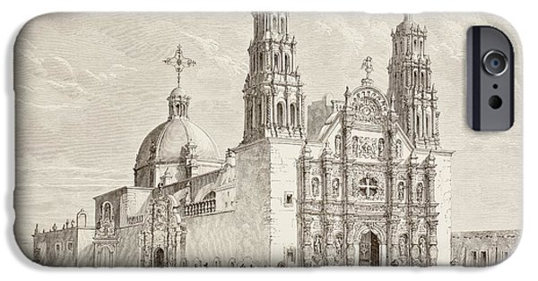 Nineteenth iPhone Cases - Metropolitan Cathedral In Plaza De iPhone Case by Ken Welsh