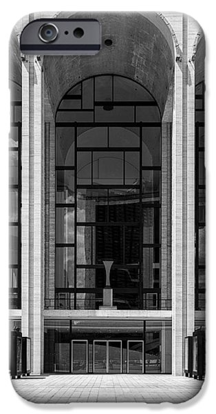 Lincoln iPhone Cases - Metropolitan Opera House Arches iPhone Case by Stephen Shilling II