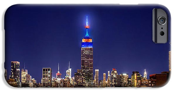 Empire State Building iPhone Cases - Mets Dominance iPhone Case by Az Jackson