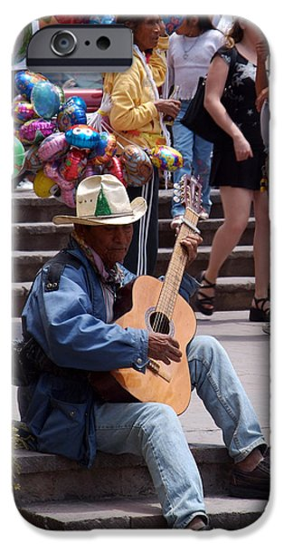 Balloon Vendor iPhone Cases - Mexican Music iPhone Case by Christal Randolph