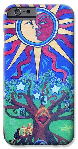 Pear Tree Paintings iPhone Cases - Mexican Retablos Prayer Board iPhone Case by Genevieve Esson