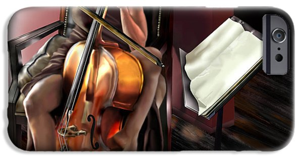 Playing Musical Instruments iPhone Cases - Mi Chica - Solace in the Unseen iPhone Case by Reggie Duffie