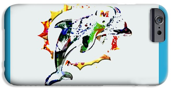 Dan Marino iPhone Cases - Miami Dolphins 3c iPhone Case by Brian Reaves