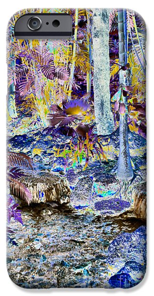 Rain Tapestries - Textiles iPhone Cases - Miami Rain Forest iPhone Case by Edna Weber