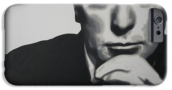 Michael Paintings iPhone Cases - Michael Caine 2013 iPhone Case by Luis Ludzska