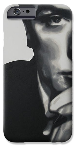 Michael Caine 2013 iPhone Case by Luis Ludzska