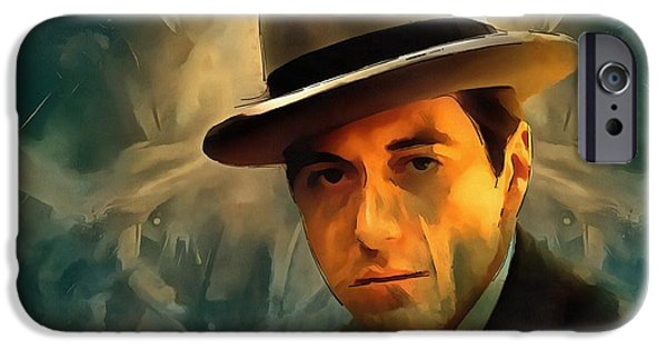 Francis Ford Coppola iPhone Cases - Michael Corleone iPhone Case by Dan Sproul