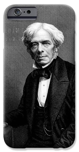 Michael Faraday, English Physicist iPhone Case by Photo Researchers