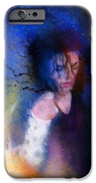 Michael Jackson Art iPhone Cases - Michael Jackson 16 iPhone Case by Miki De Goodaboom