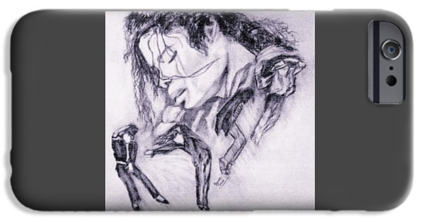 Mj Drawings iPhone Cases - Michael Jackson Dance iPhone Case by Regina Brandt