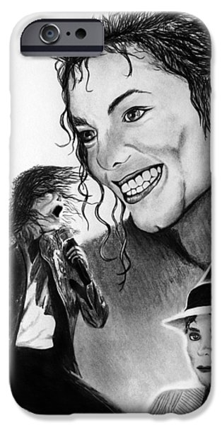 Michael Jackson Faces to Remember iPhone Case by Peter Piatt