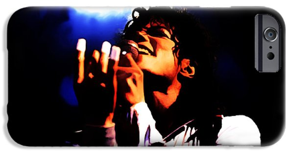 Michael Mixed Media iPhone Cases - Michael Jackson From the Heart iPhone Case by Brian Reaves