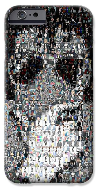 Michael Jackson Glove Montage iPhone Case by Paul Van Scott