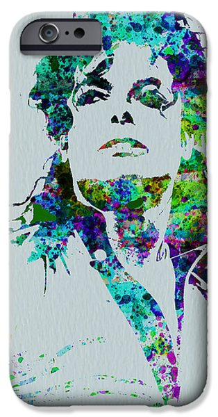 Michael Paintings iPhone Cases - Michael Jackson iPhone Case by Naxart Studio