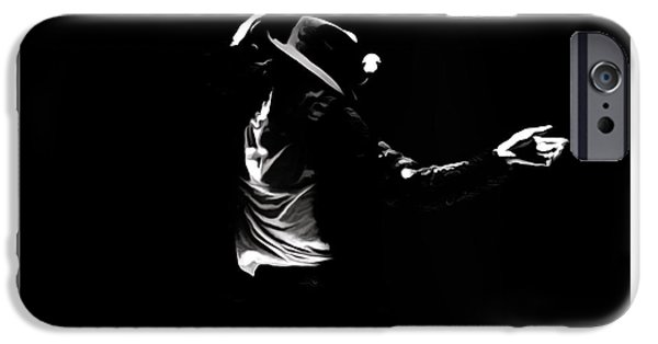 Michael iPhone Cases - Michael Jackson On Fire iPhone Case by Brian Reaves