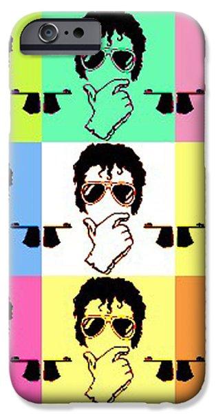 Michael Jackson Pop iPhone Case by Paul Van Scott