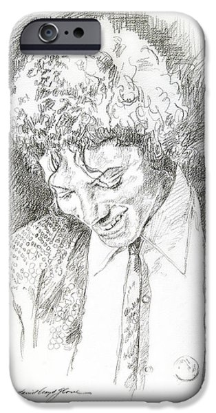People Drawings iPhone Cases - Michael Jackson - Remember the Time iPhone Case by David Lloyd Glover