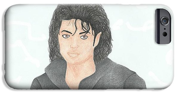 Mj Drawings iPhone Cases - Michael Jackson iPhone Case by Toni Jaso