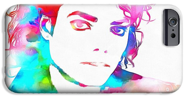 Michael Mixed Media iPhone Cases - Michael Jackson Watercolor iPhone Case by Dan Sproul