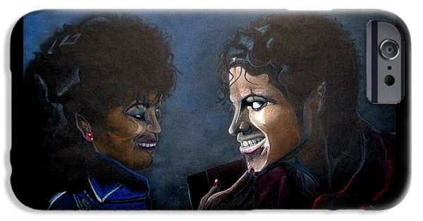 Michael Mixed Media iPhone Cases - Michael Jacksons Thriller iPhone Case by Marcus Quinn
