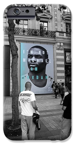 Jordan iPhone Cases - Michael Jordan 2 iPhone Case by Andrew Fare