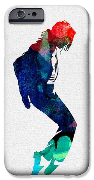 Michael Digital iPhone Cases - Michael Watercolor iPhone Case by Naxart Studio