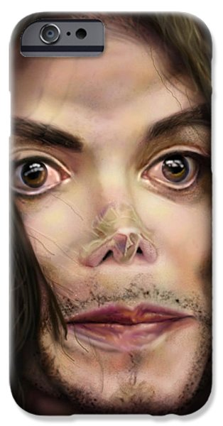 King Of Pop iPhone Cases - Michaels Magnum Opus 1 iPhone Case by Reggie Duffie